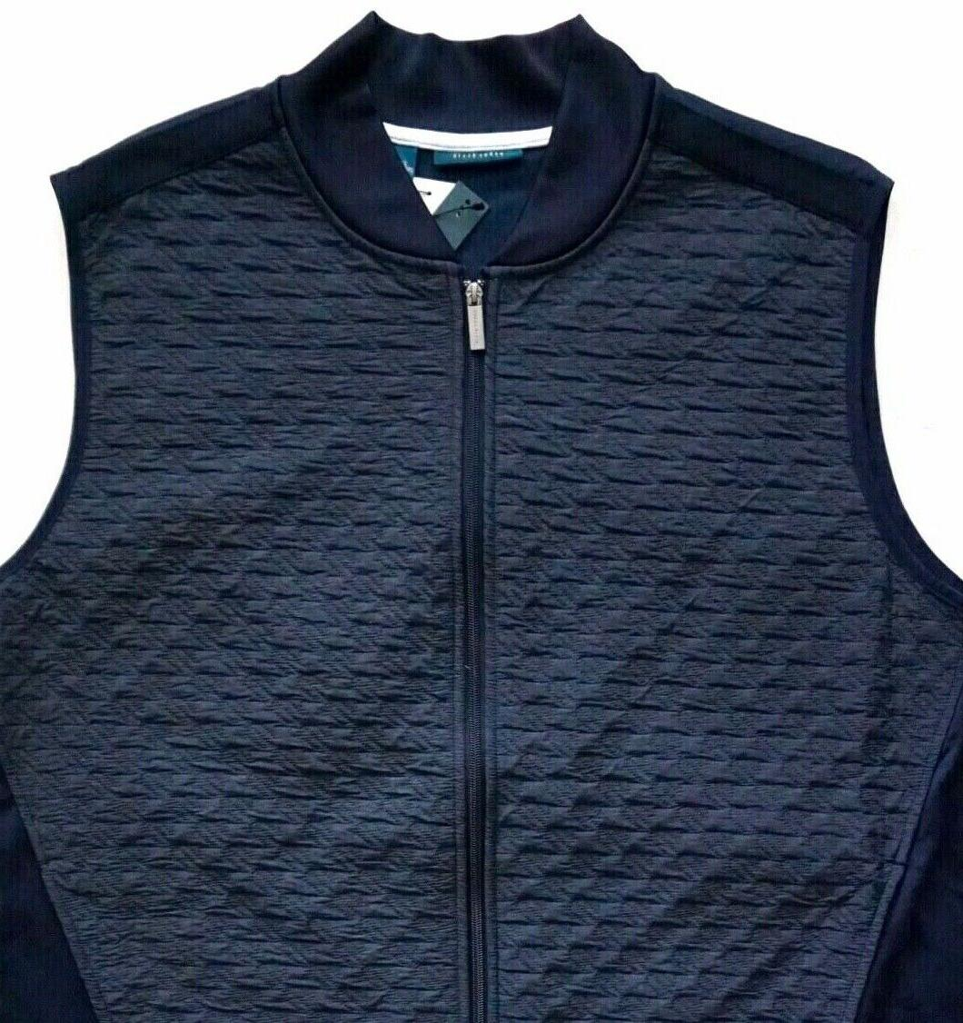Perry Ellis Men's Nwt Quilted Zip Sapphire 3X