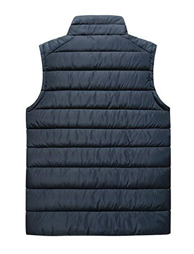 Vcansion Outdoor Stand Padded Coat Vest Blue US L