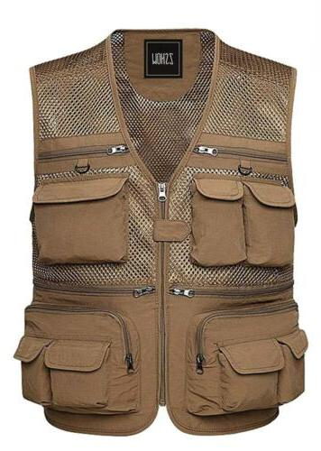 ZSHOW Men's Outdoor Quick Dry Mesh Fly Fishing Vest