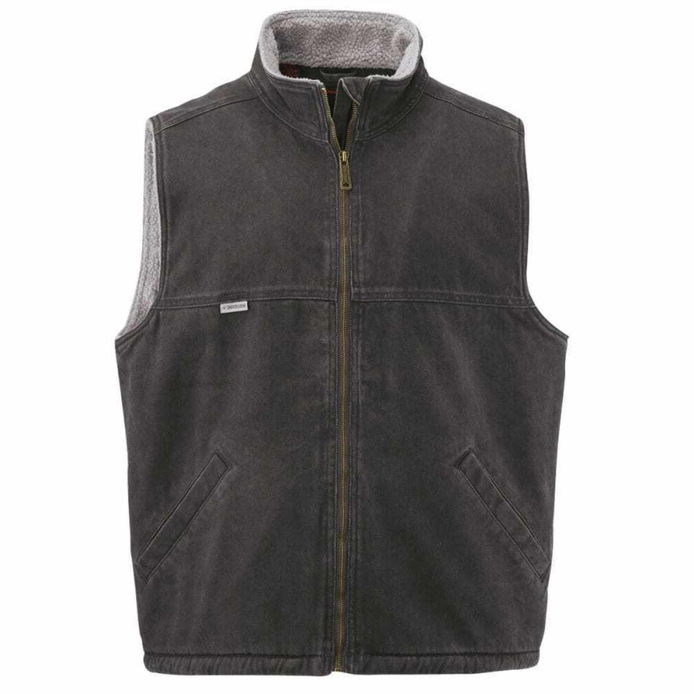 men s porter sherpa lined vest black