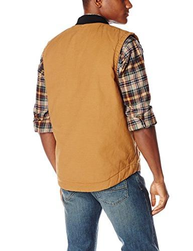 Dickies Sanded Insulated Vest, Brown Duck, Large
