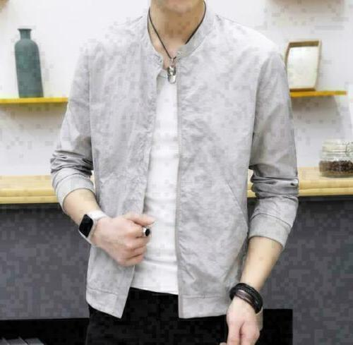 Fashion Men's Slim collar jackets New Sunscreen Tops Casual