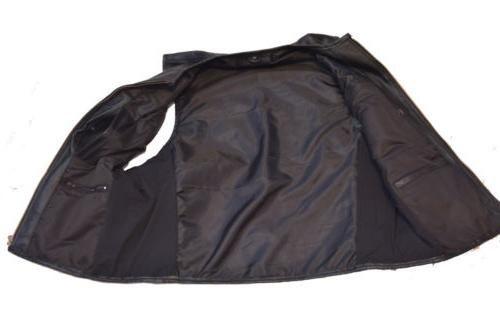 Biker Leather two concealed gun