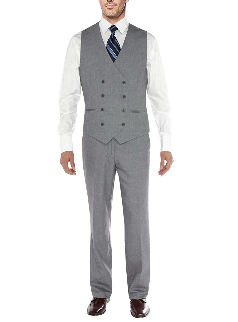 Men's Piece 2 Button Blazer Vest Flat Front