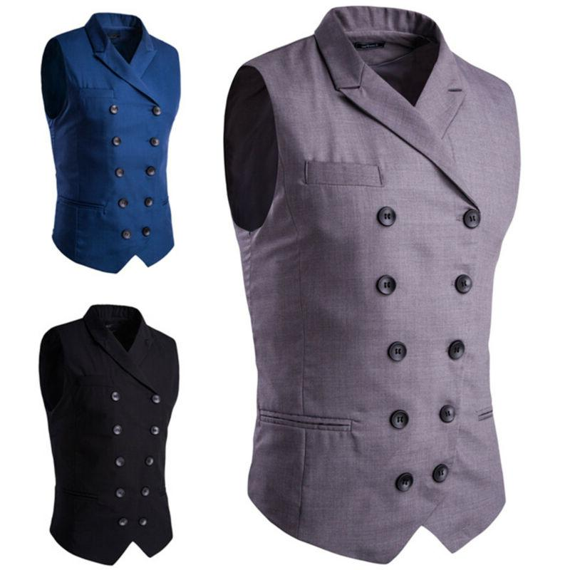 men business work dress suit vest slim