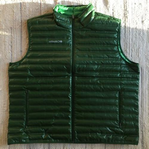 Mens COLUMBIA Big 3XL Flash Forward Down Vest Jacket Green T