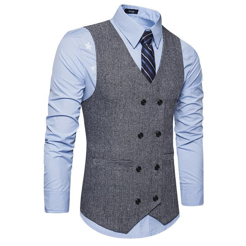 Men's Botton Formal Business Slim Suit Work Tops