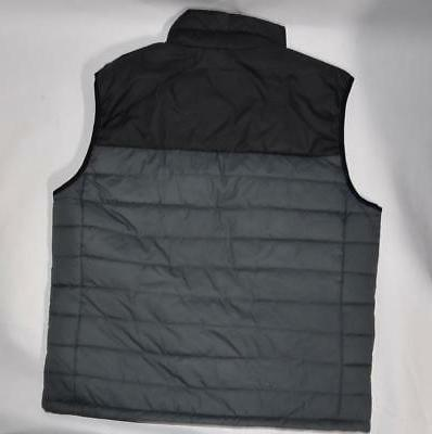 Columbia Glacier Vest Jacket Gray/Black Insulated Puffer