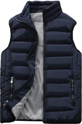 mens outdoor casual stand collar padded vest