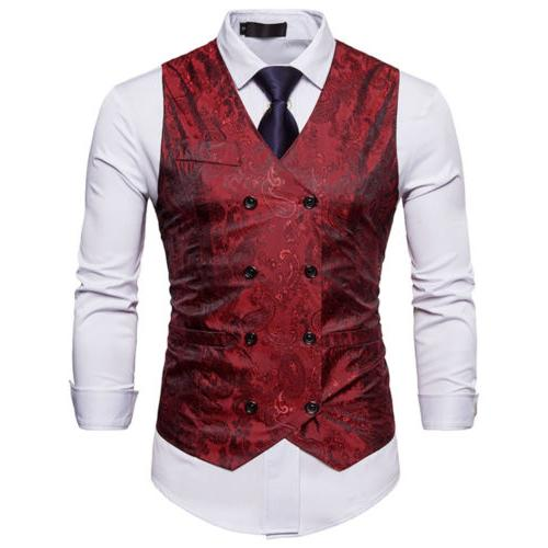 Mens Suit Vest Dress Vest Waistcoat Men Tuxedo Vest Fashion