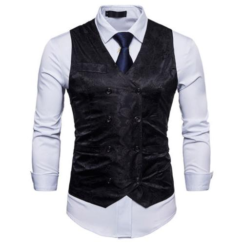 Mens Suit Vest Dress Vest Waistcoat for Men Or Tuxedo Vest B
