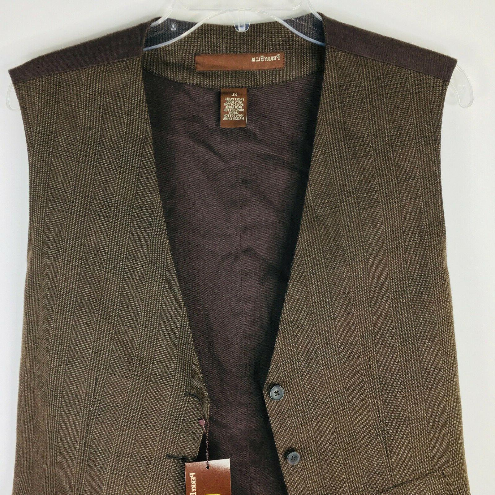 Perry Ellis Vest Stripe Dark 5 Button