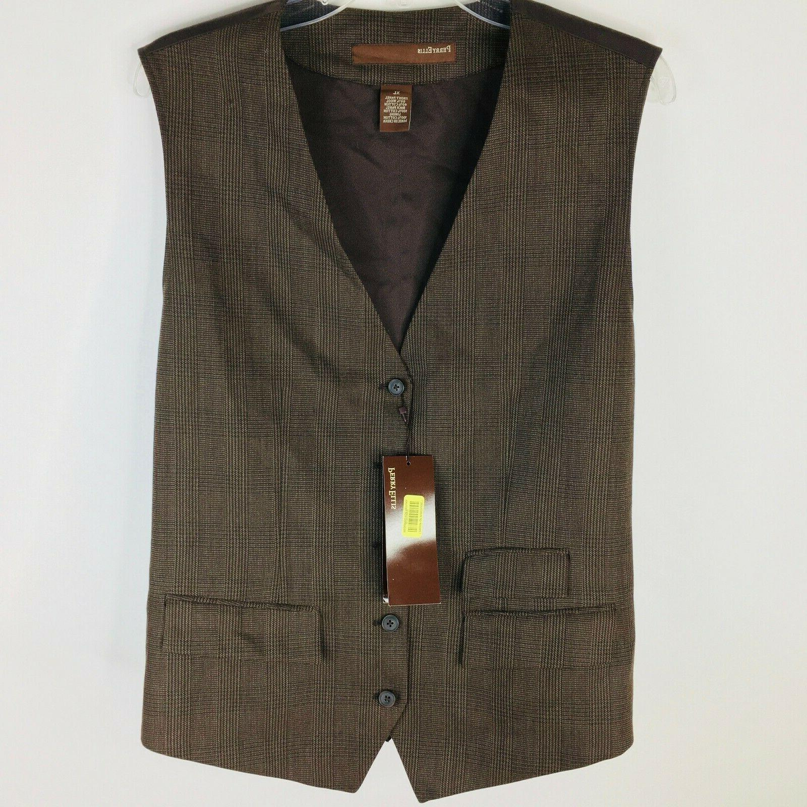 mens suit vest xl bryce canyon stripe