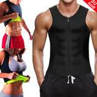 Mens Weight Loss Waist Trainer Vest Sauna Sweat Body Shaper