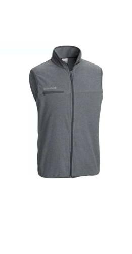 mountain crest full zip fleece vest men