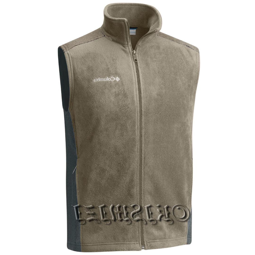 "New Mens Columbia ""Steens Mountain"" Full Zip Fleece Vest"