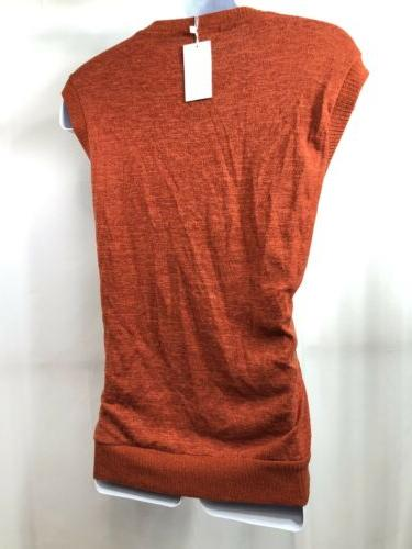 NWT Men's H2H Neck Burnt Orange Sweater Vest