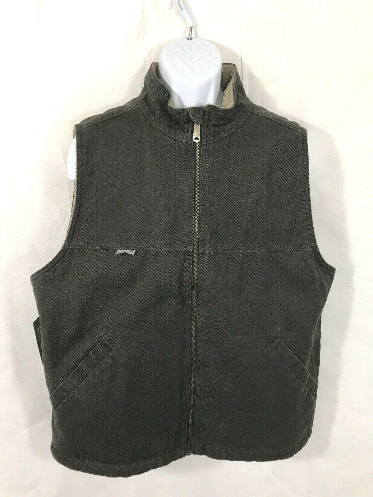 nwt mens charcoal charbon upland canvas sherpa