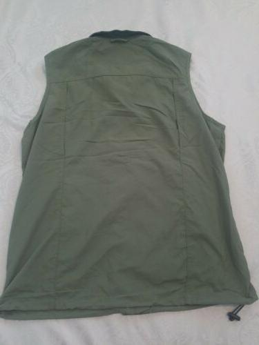 NWT Columbia Silver II Grill Green Hiking Utility Vest M