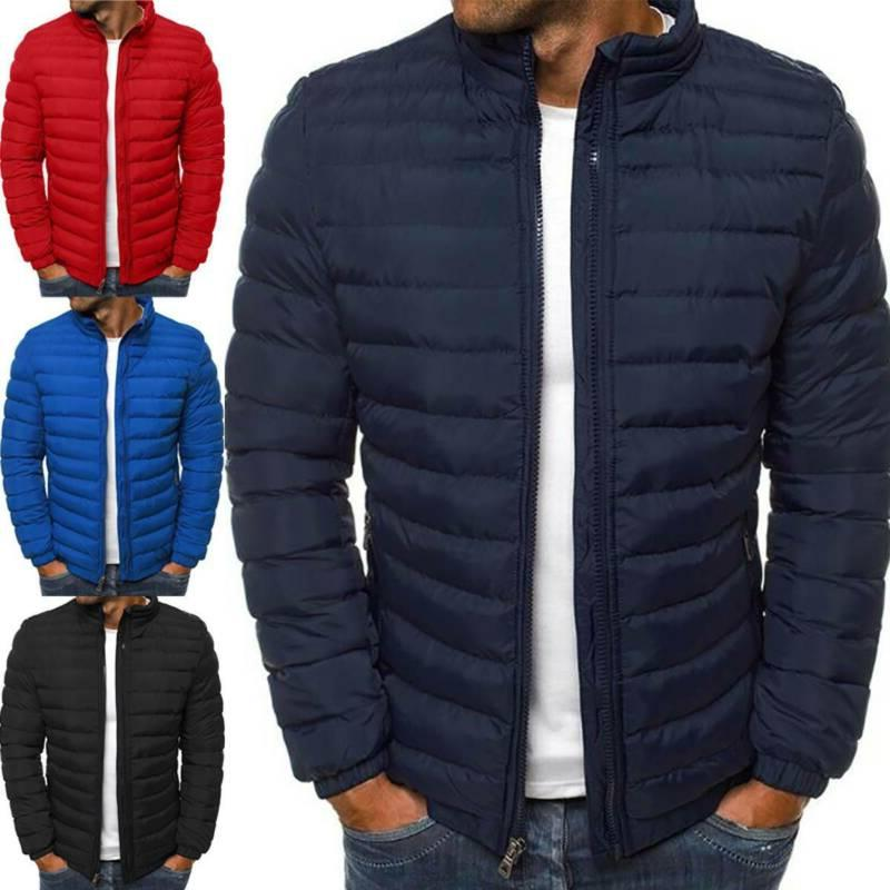 Men Puffer Bubble Down Coat Quilted Padded Jacket Winter Lig