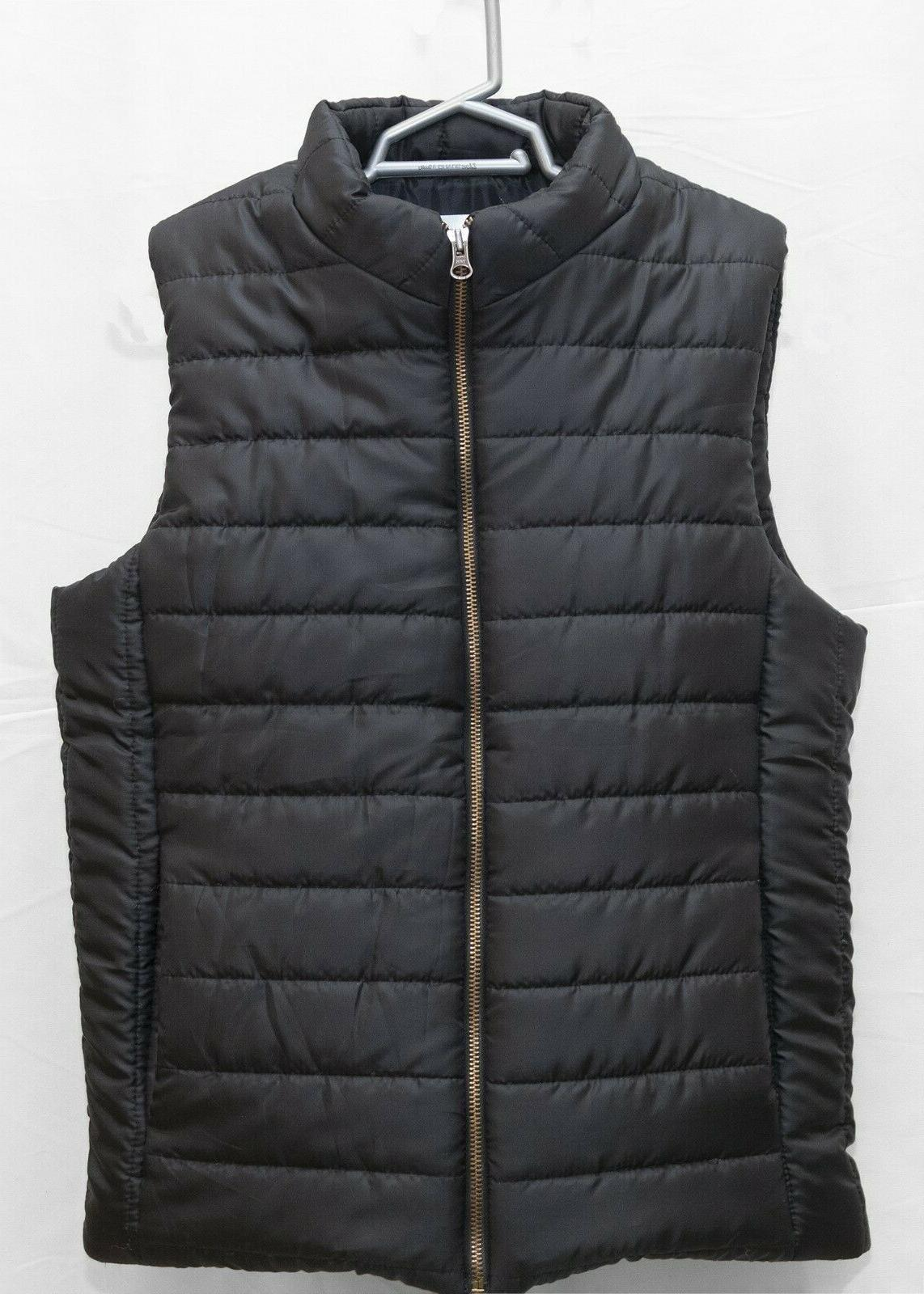 puffer vest water resistant quilted padded sleeveless