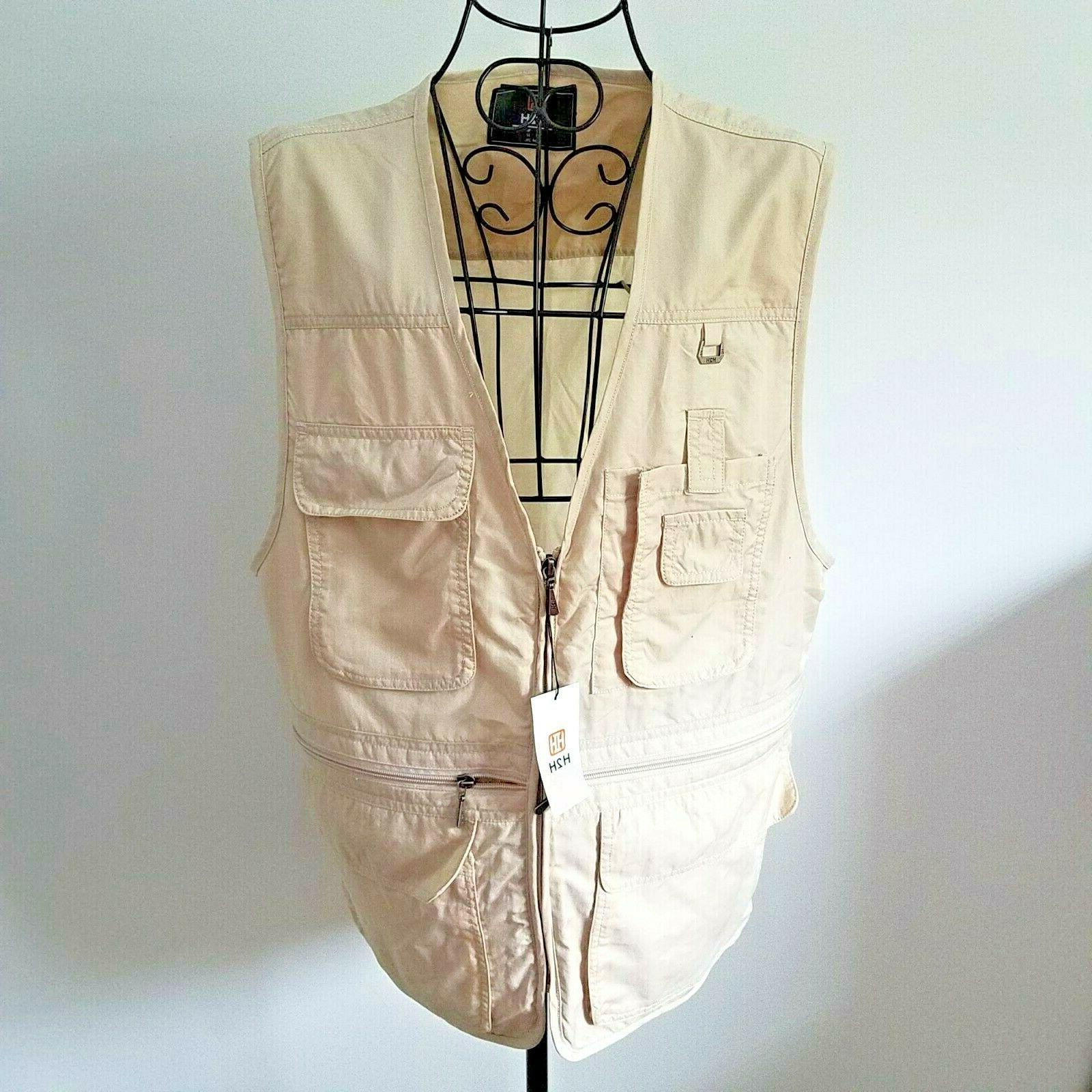 safari travel vest xl nwt military fishing