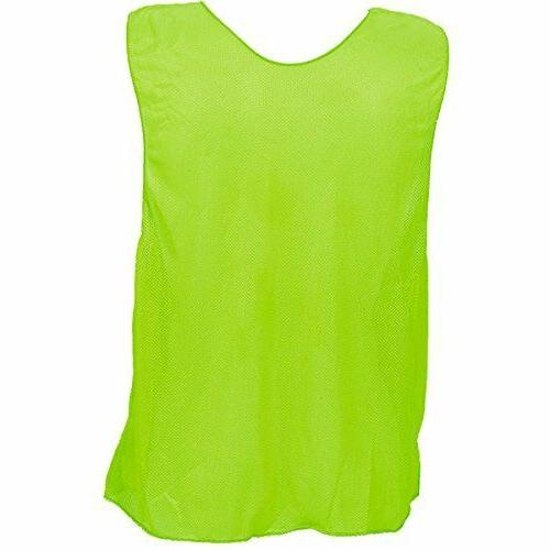 Champion Sports Scrimmage Vests for Adult, Neon Green - Set
