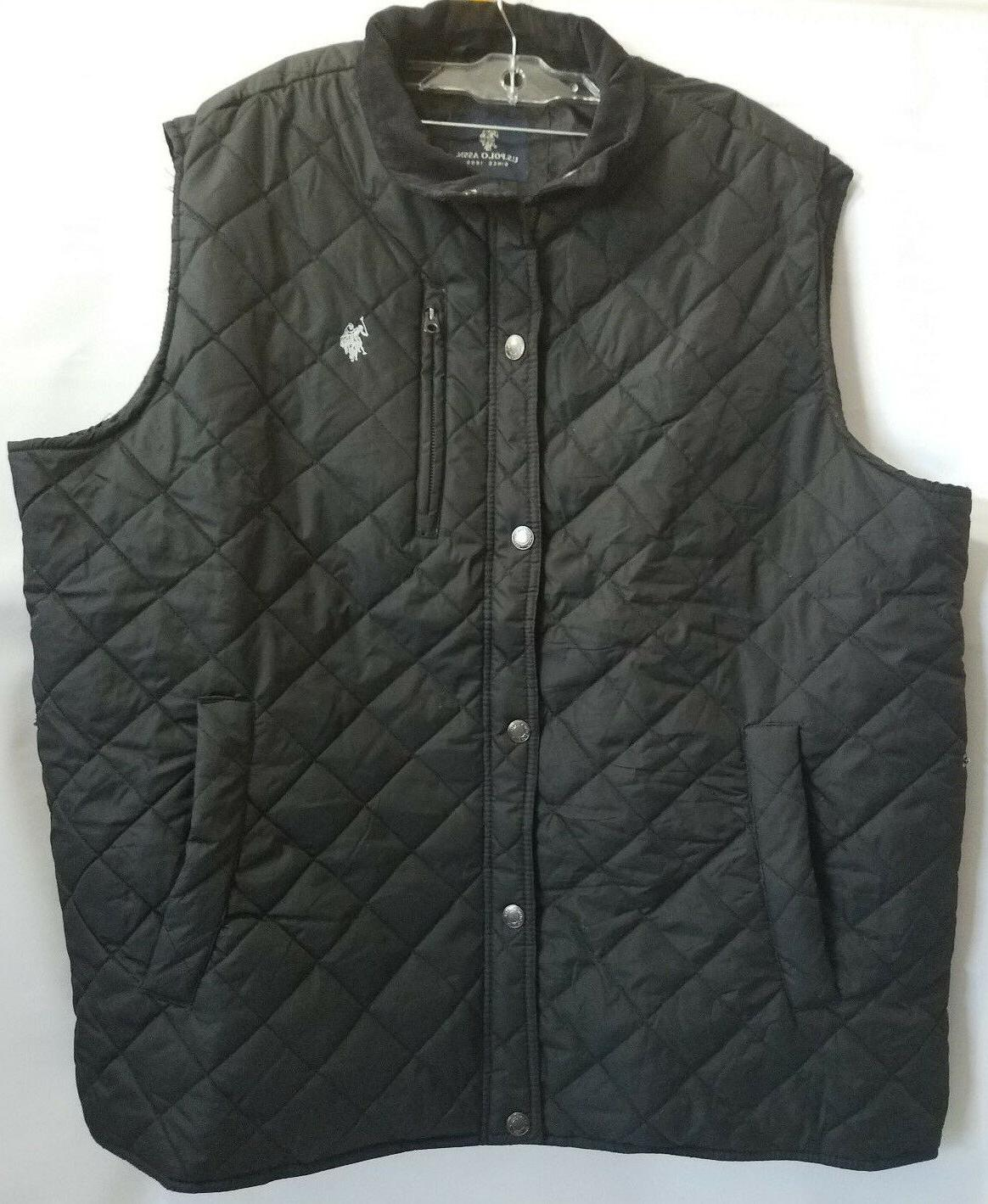 U.S. Polo Assn. Men's Big-Tall Diamond Quilted Vest W/ Cordu