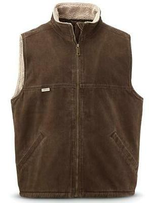 Wolverine Upland Vest Bison Cotton Polyester blend New with