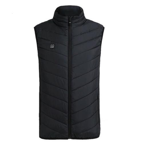 USB Electric Heated Vest Rechargeable Heating Jacket