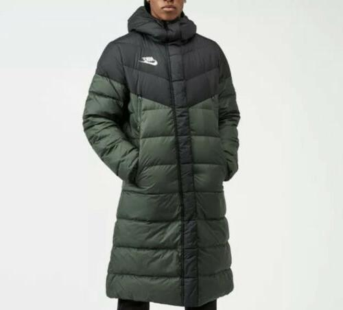 windrunner down fill hooded puffer parka jacket