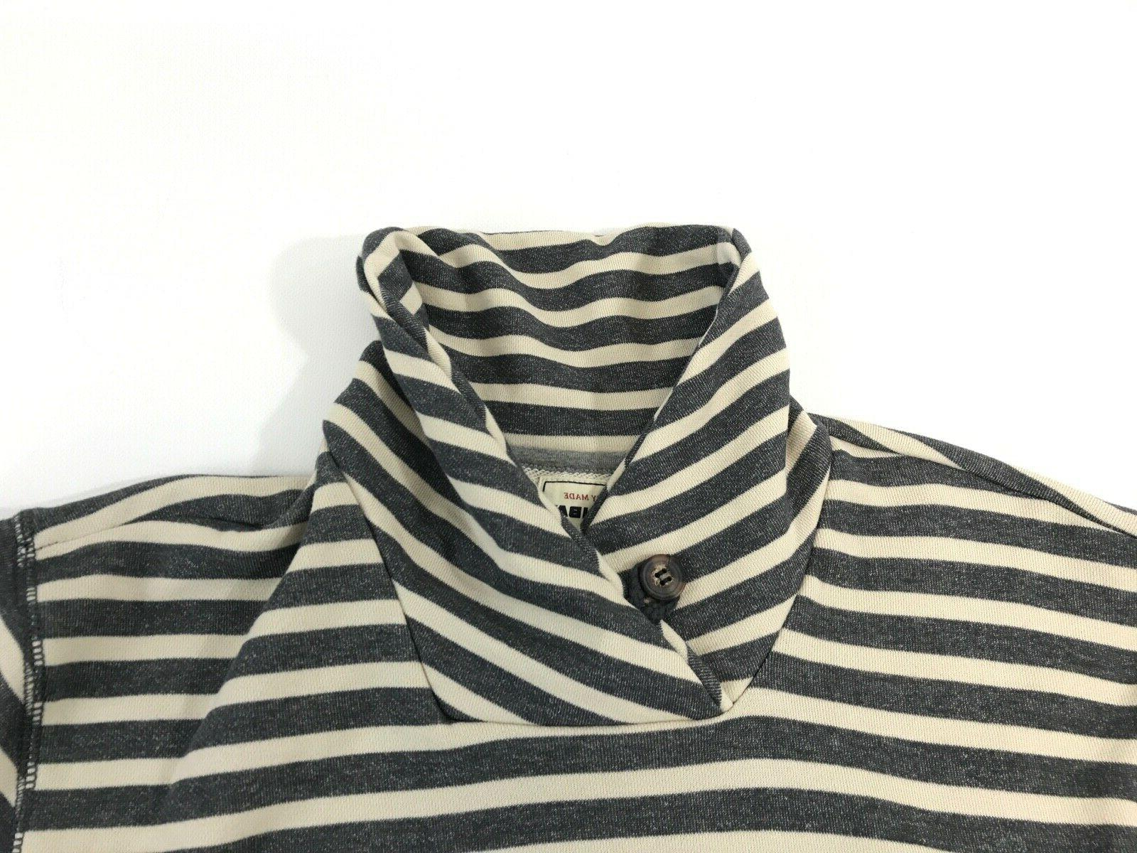 UnionBay Young Sleeve Over Blend Shirt Gray Stripe