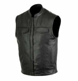 men club style motorcycle leather club vest
