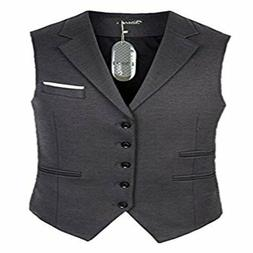 Zicac Men's 5 Button Suit Separate Vest Slim Fit V-neck Wais