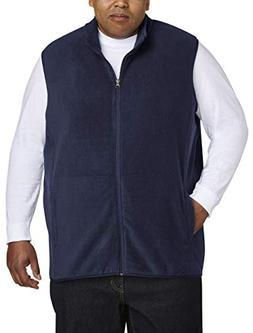 Amazon Essentials Men's Big and Tall Full-Zip Polar Fleece V