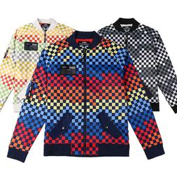 Men's Bomber Colored checker Coat Warm Active Windproof Midw