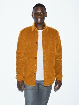 American Apparel Men's Brown Corduroy Lined Shirt-Jacket Siz