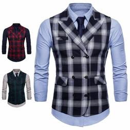 Men's Business Vest Suit Accessory Sleeveless Slim Fit Outfi