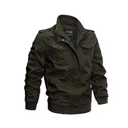 Toimothcn Men's Casual Winter Cotton Military Jackets Outdoo