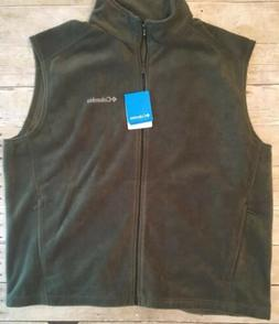 Columbia Men,s Cathedral Peak II Full  Zip Fleece Vest Olive