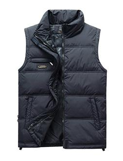 Vcansion Men's Classic Outwear Down Vest Lightweight Stand C