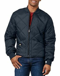 "DICKIES MEN""S DIAMOND QUILTED NYLON JACKET DARK NAVY 61242DN"