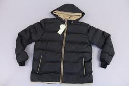 men s double hooded quilted cotton coat