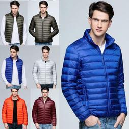 Men's Down Coat Tops Thick Hoodie Outerwear Jacket Hooded Pu