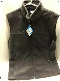 Men's Columbia Flattop Ridge Vest Fleece Charcoal Gray Size