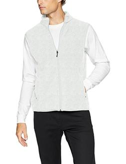 Amazon Essentials Men's Full-Zip Polar Fleece Vest, Light Gr