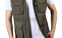 Gihuo Men's Golf Lightweight Photo Vest Fishing Travel Safar