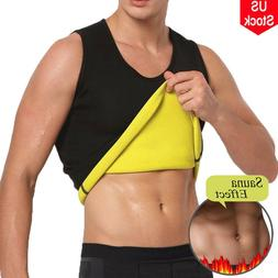Men's Waist Trainer Vest Sauna Sweat Body Shaper Tank Top Sl