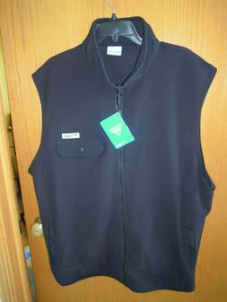 Columbia PFG Men's Harborside Fleece Vest - Black XXL NEW wi
