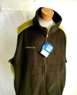 Columbia Men's Jacket / Vest  Fleece Size 4XL Green MSRP $50